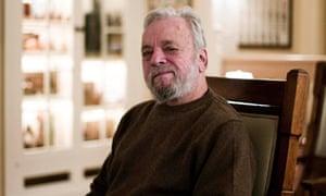 Stephen Sondheim in his Manhattan apartment