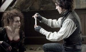 Helena Bonham Carter and Johnny Depp in the 2007 film of Sweeney Todd