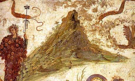 Bacchus on the slopes of Mount Vesuvius, from the Casa del Centenario in Pompeii