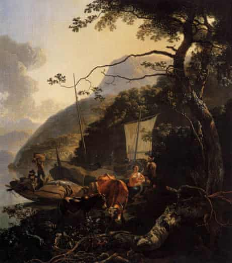 Boatmen Moored On the Shore of a Lake, c1660, by Adam Pynacker