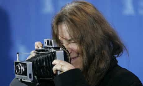 Patti Smith with Polaroid