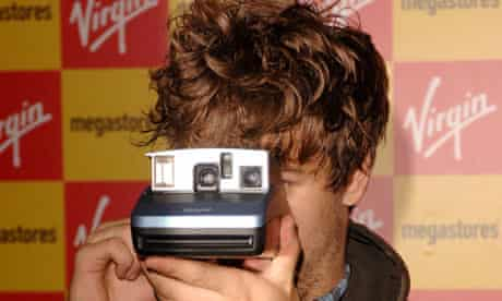 Jack Penate with Polaroid camera