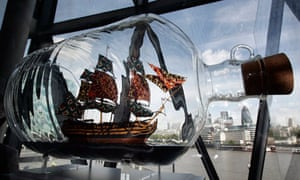 Nelson's Ship in a Bottle, by Yinka Shonibare, created for the fourth plinth.