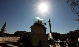 HMS Victory returns to Trafalgar Square