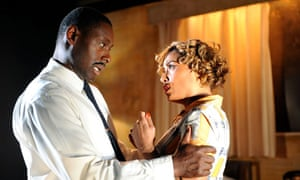 David Harewood and Lorraine Burroughs in The Mountaintop