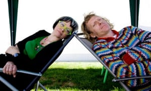 Grayson Perry and his wife Phillipa at this year's Hay festival