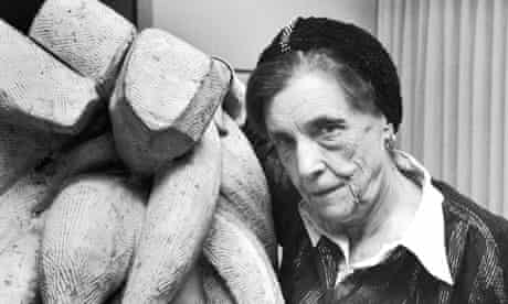 Louise Bourgeois with Baroque (1970) at Moma, New York
