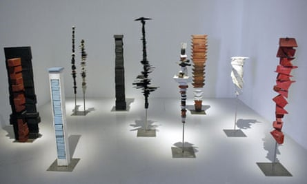 Untitled (1950) stands at the rear on the right, while Femme Volage (1951) is in the centre.