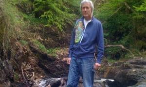 Alex Hamilton at the spot of John Everett Millais's famous painting of John Ruskin