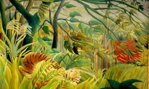 Henri Rousseau's Tiger in a Tropical Storm (Surprised!), 1891, at Tate Modern