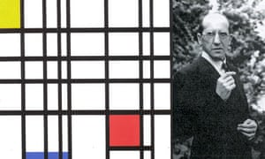 Dutch artist Piet Mondrian and his painting Composition With Yellow, Blue and Red (1937-42)
