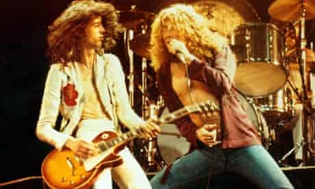Jimmy Page and Robert Plant of Led Zeppelin (1976)