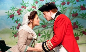 Sioned Saunders and Daniel Summers in The Poor Soldier at Theatre Royal, Bury St Edmonds