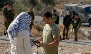 Combatants for Peace perform a scene in the West Bank.