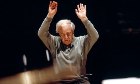 French classical music composer and conductor Pierre Boulez