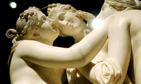 Beginning to see the light ... detail of Antonio Canova's The Three Graces.