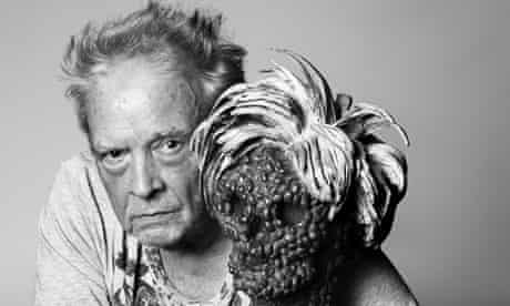 David Bailey with his sculpture Dead Andy