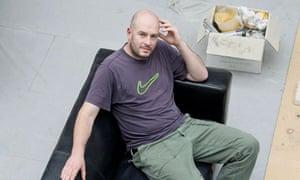 Jake Chapman in his studio