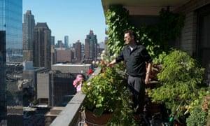 Tony Kusher in his Manhattan home