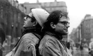 Peter Orlovsky and Allen Ginsberg in Paris's Place St Germain-des-Prés in 1956