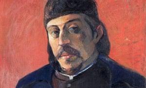Self-Portrait with a Palette by Paul Gauguin