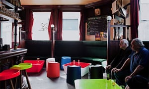 the Wenlock Arms, scattered with Established & Sons furniture as part of the London Design festival