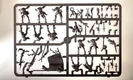 Parts to play ... a plastic sprue of figurines from Games Workshop's Warhammer series.