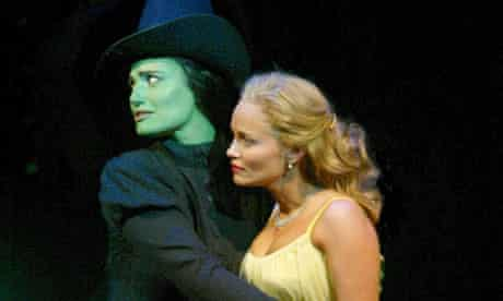 Rub of the green ... Idina Menzel and Kristin Chenoweth in a scene from hit musical Wicked!