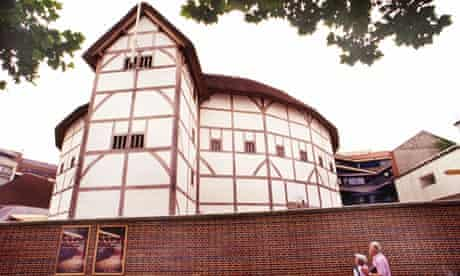 'This wooden O' ... external view of of Shakespeare's Globe Theatre on London's Bankside.