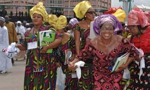 supporters at Inauguration of Umaru Musa Yar Adua as the new President of Nigeria Abuja 29 May 2007