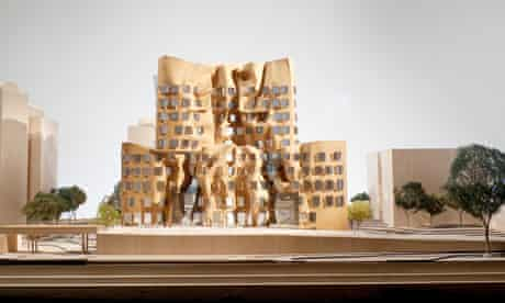 A model of Gehry's building for the University of Technology  in Sydney