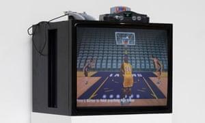 Game changer … Cory Arcangel's Self-Playing Nintendo 64: NBA Courtside 2 (2011).