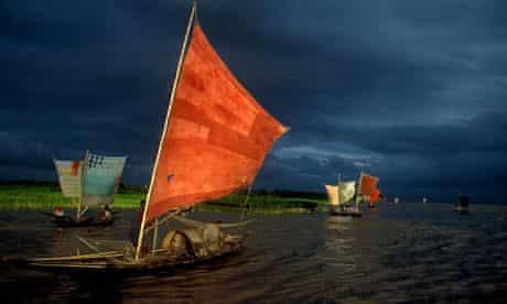 Shahidul Alam's shot of ilish fishing on the river Brahmaputra, Bangladesh