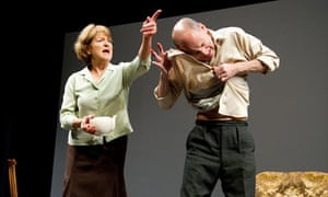Susan Brown (Mary) and Michael Feast (Harry) in Saved by Edward Bond at Lyric theatre, Hammersmith.