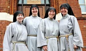 Sister Jacinta Pollard, who belongs to St Joseph's Convent in Leeds, third from left