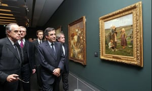 French ministers inspect the Musée d'Orsay's new-look non-white walls. And some paintings.