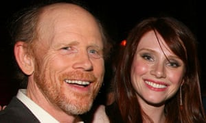 Bryce Dallas Howard with her dad Ron