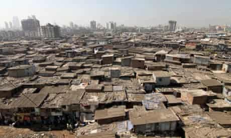 Dharavi, a slum in the suburbs of Mumbai