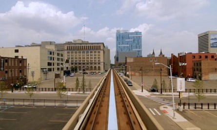 The Detroit Peoplemover, depicted in the film Urbanized by Gary Hustwit