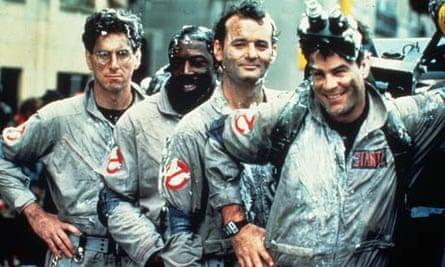Harold Ramis, Ernie Hudson, Bill Murray and Dan Aykroyd in Ghostbusters (1984)