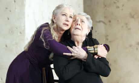 Helen Mirren and Margaret Tyzack in Phedre at the Lyttelton theatre