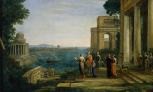 Dido and Aeneas at Carthage (1676) by Claude Lorrain