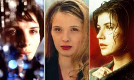 Three Colours trilogy starring Juliette Binoche, Julie Deply and Irène Jacob