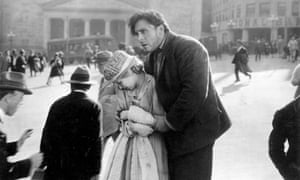 Janet Gaynor, George O'Brien in the film Sunrise: A Song of Two Humans (1927)