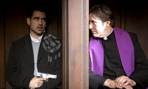 my favourite film in bruges film the guardian colin farrell and ciaran hinds in in bruges 2008