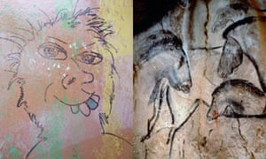 Cave paintings in the Chauvet cave in south-east France