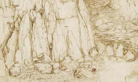 Leonardo da Vinci's Rocky Ravine