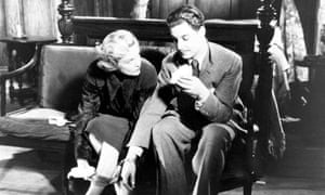 Madeleine Carroll and Robert Donat in The 39 Steps (1935) by Alfred Hitchcock