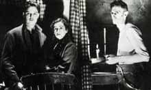 Robert Donat, Peggy Ashcroft and  John Laurie in The 39 Steps (1935)