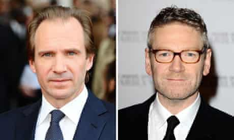 Film awards for Fiennes and Branagh